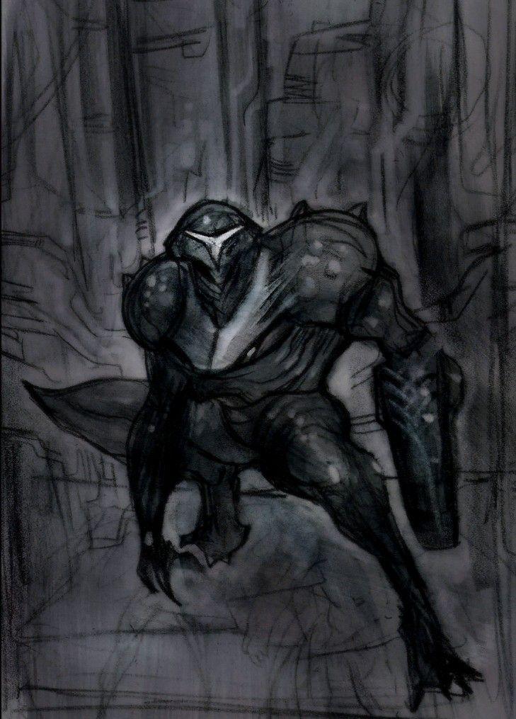 Metroid Prime 2 Dark Samus concept art