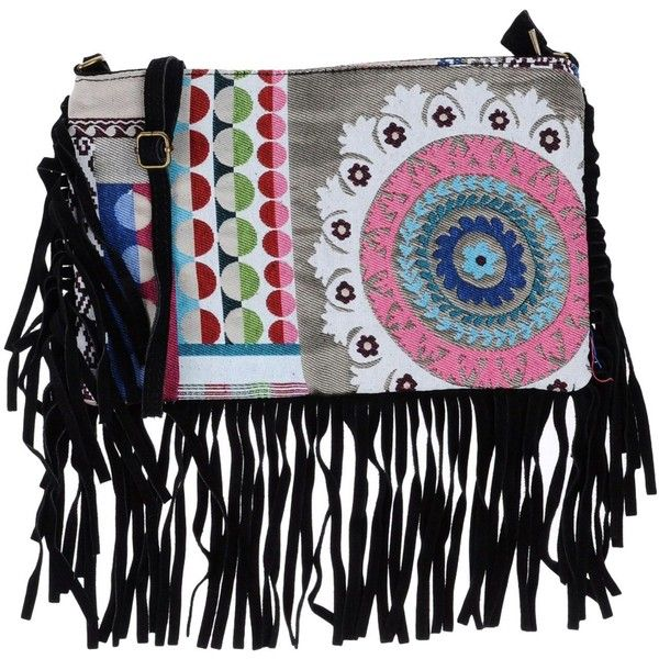 Maury Cross-body Bag (4.395 RUB) ❤ liked on Polyvore featuring bags, handbags, shoulder bags, black, zipper shoulder bag, fringe shoulder bag, multi colored purses, fringe purse and crossbody shoulder bag