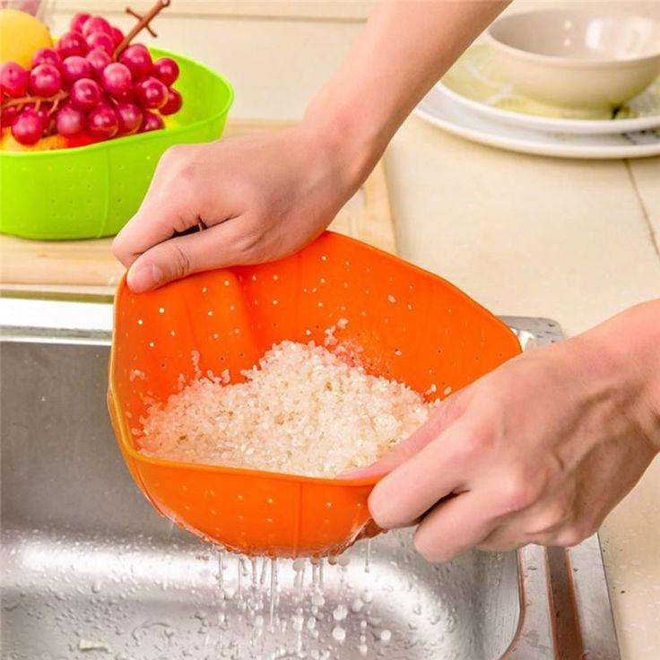 Kitchen Basket Multifunction Silicone Kitchen Drain Rice Baskets