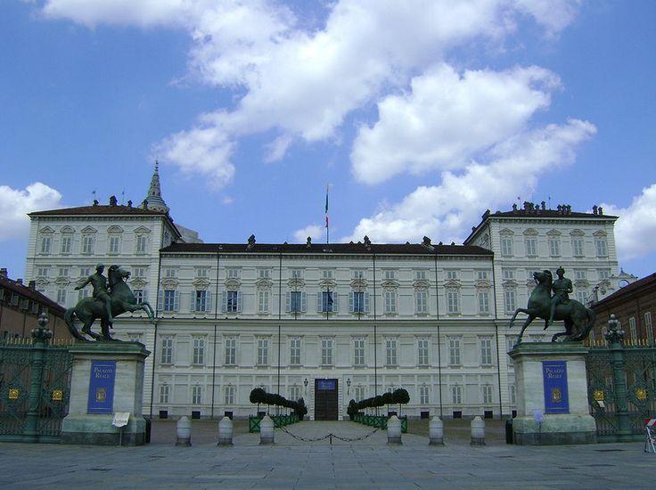 Barokki tyylinen Torinon kuninkaallinen palatsi.