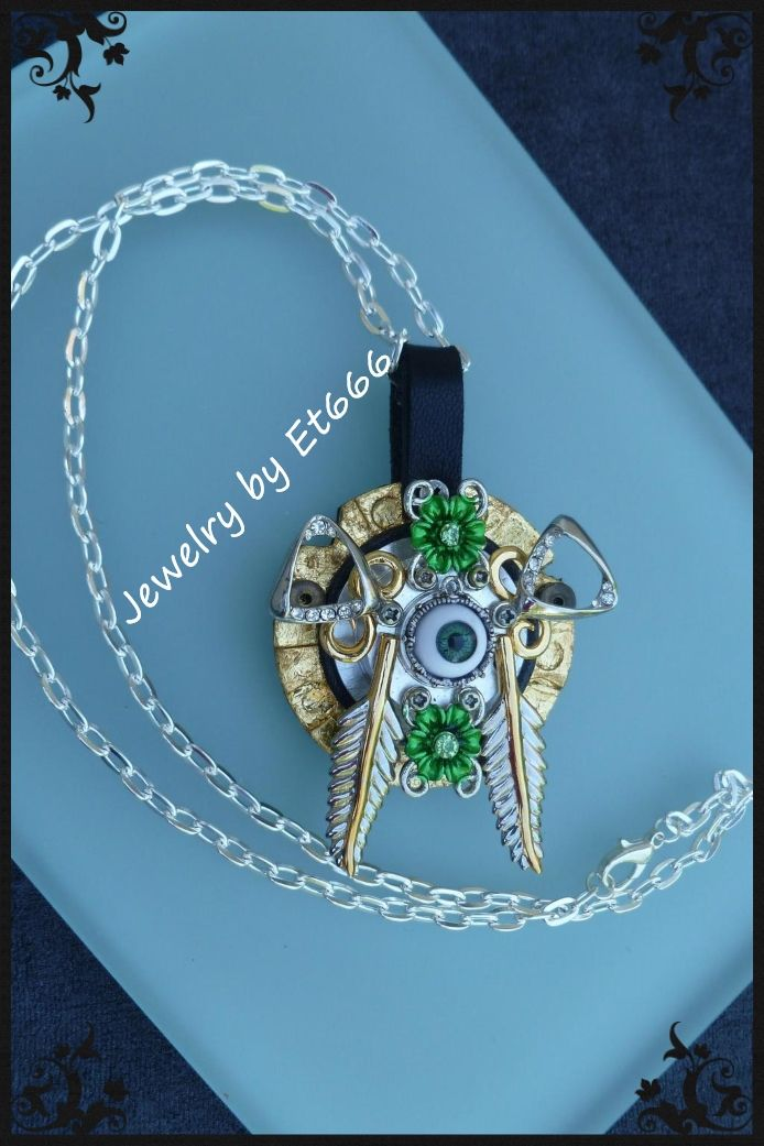 Jewelry designer pendant steampunk. the ephemeral