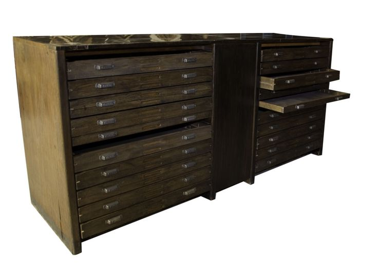 vintage wooden flat files - Google Search