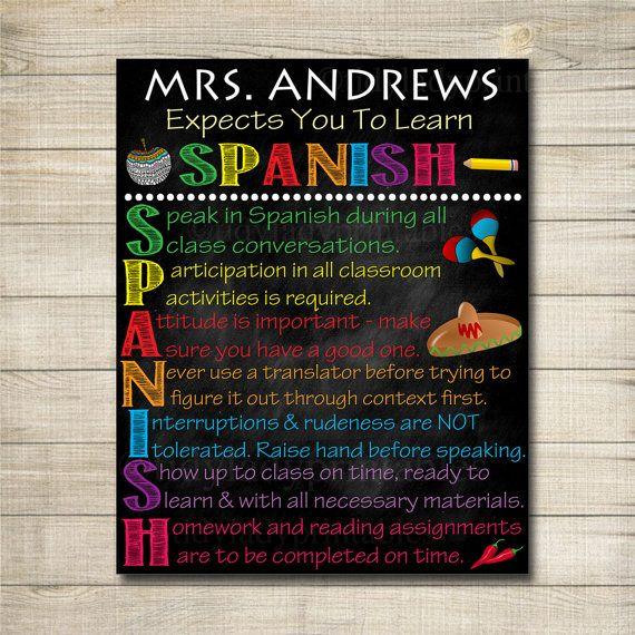 Classroom Rules Decor ~ Best spanish classroom decor ideas on pinterest