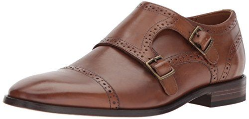 91ea2c31fbef Bostonian Men's Nantasket Monk-Strap Loafer, Dark Tan Leather, 9 ...