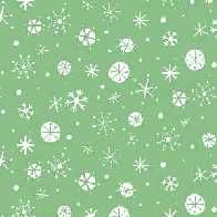 Christmas Wish - Snowflake - Green