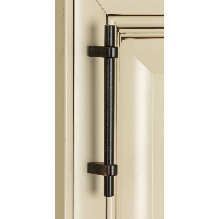 Gliderite 6 inch oil rubbed bronze zinc euro t bar cabinet for Bar handles for kitchen cabinets