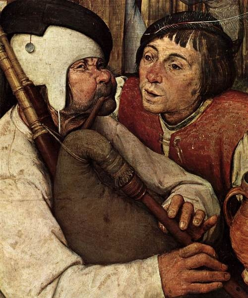 Pieter Bruegel the Elder, Peasant Dance, detail