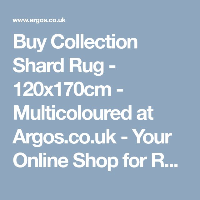 Buy Collection Shard Rug - 120x170cm - Multicoloured at Argos.co.uk - Your Online Shop for Rugs and mats, Home furnishings, Home and garden.