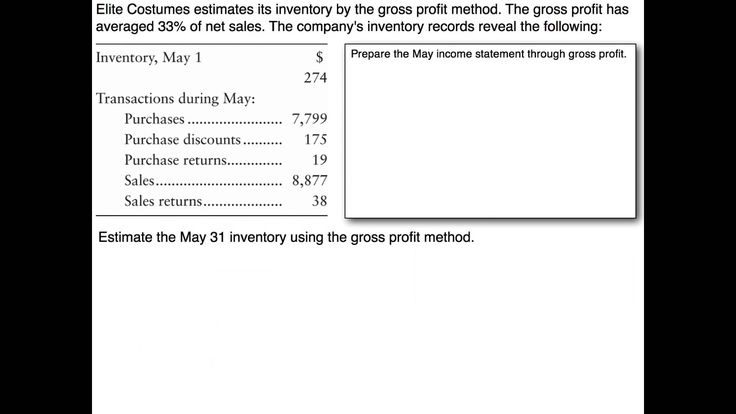how to find gross profit on balance sheet