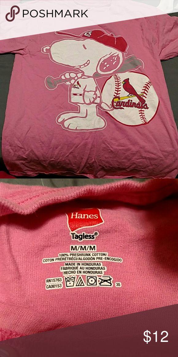 Snoopy STL Cardinals T-shirt Pink shirt. Medium. Barely worn. Snoopy Tops Tees - Short Sleeve