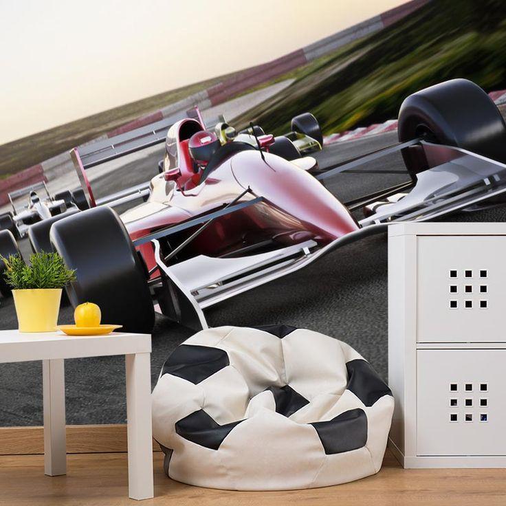 Fotobehang Formule I race | Het fotobehang Formule I race is de perfecte aankleding voor een jongenskamer. #zelfklevend #vliesbehang #behangen #behang #diy #fotobehang #jongens #jongenskamer #formule 1 #formule #race #racewagen #raceauto #snelheid #voertuig #racen