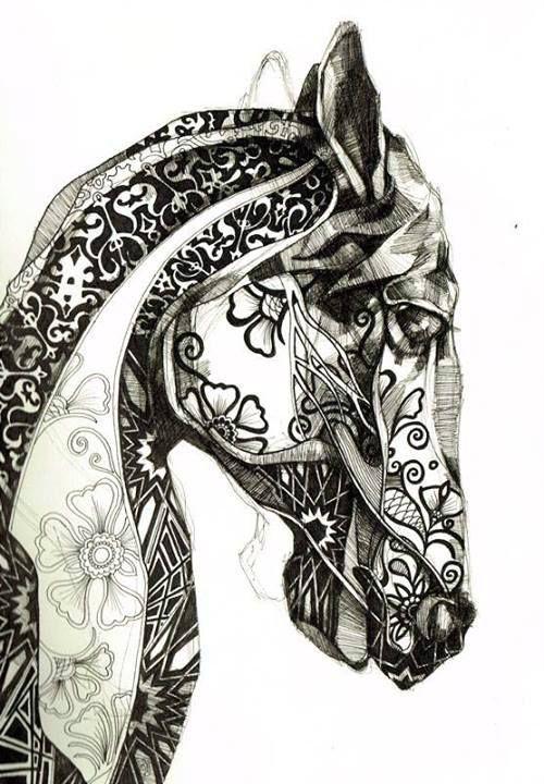 tentangle horse