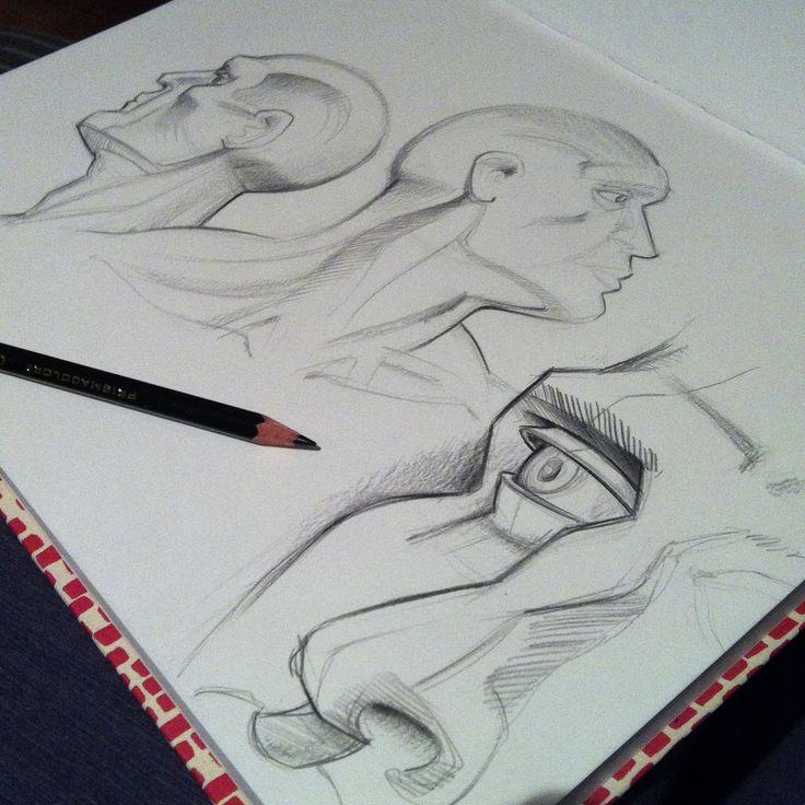 Basic anatomy sketching by stefano di lollo prismacolor verithin black sketching pencil fabriano
