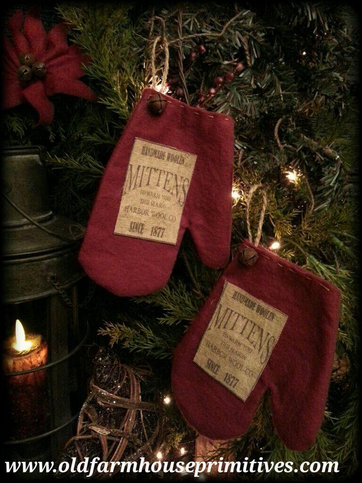 #MK17 Primitive Mitten Ornaments (Made In USA)