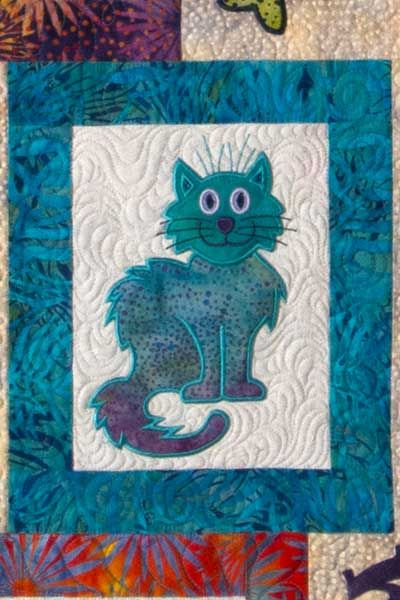 Lunch Box Quilts:Shop | Category: Quilt Patterns | Product: Cat's Meow with USB