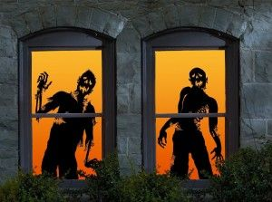 zombie halloween window silhouettes google search