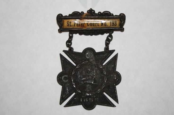 Antique Catholic Order of Foresters Court Badge/Medal #193