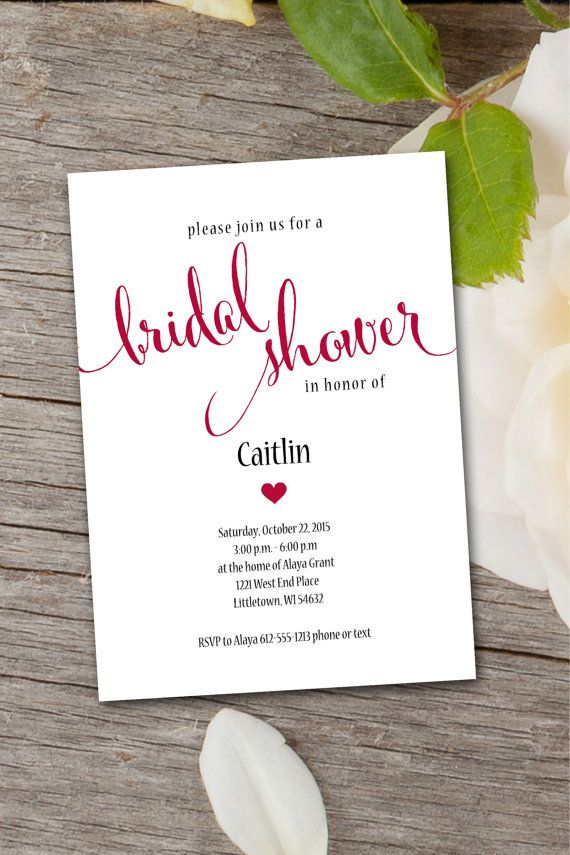 blank beach bridal shower invitations%0A a  x  bridal shower invite with just a pop of color with font and heart  offering