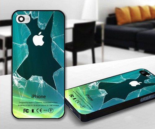 Broken Lcd Green for iPhone 5 Black case | iPhoneCustomCase - Accessories on ArtFire