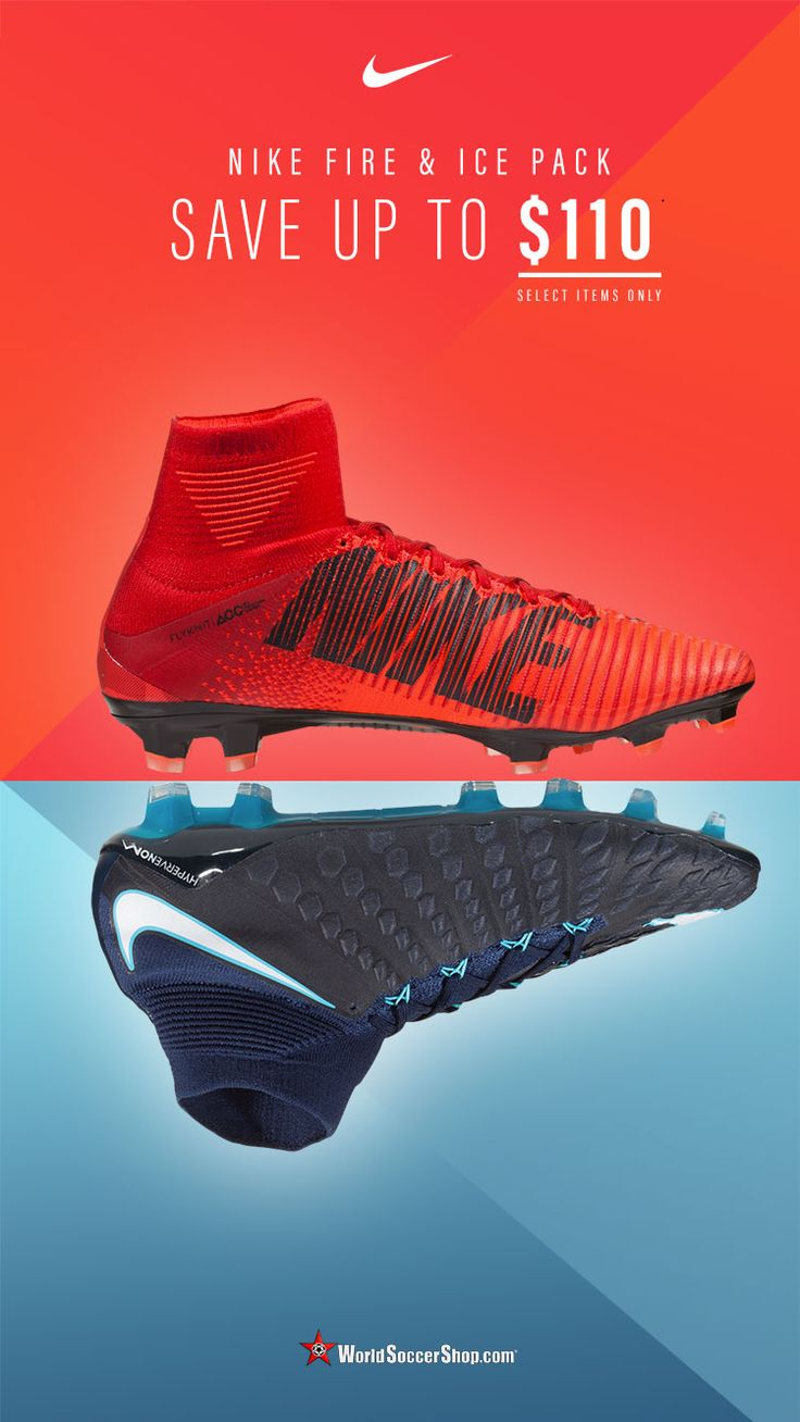 Nike Fire & Ice Soccer Cleats now up to $110 off on select models. Available now at WorldSoccerShop.com