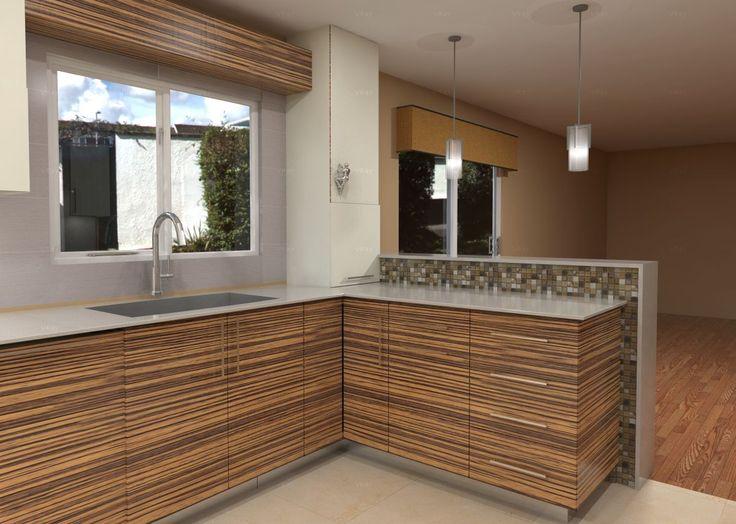 Zebra Wood Cabinets