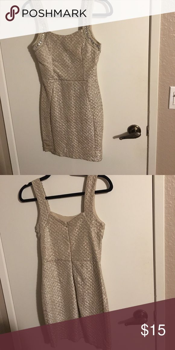 Gold Bodycon Dress Great Condition. Only worn once. Dresses Mini