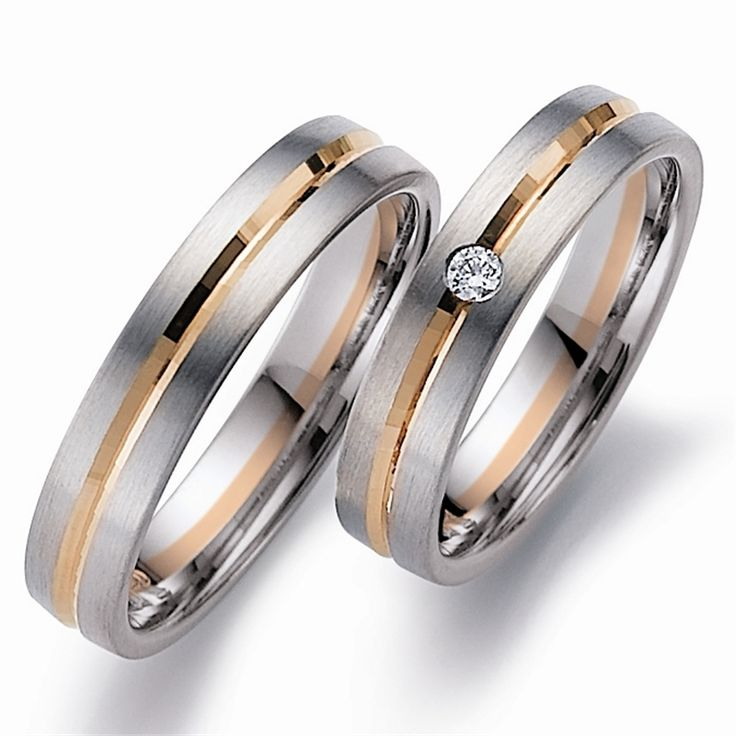 65 best Matching Two Tone Wedding Rings images on Pinterest