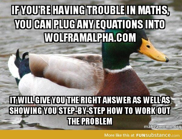 Wolframalpha is the math solver
