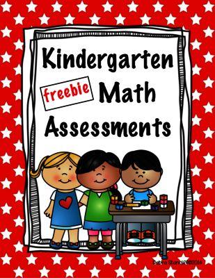 Kindergarten Math Assessments Freebie from ChalkStar on TeachersNotebook.com -  (27 pages)  - Kindergarten Common Core Math Assessments