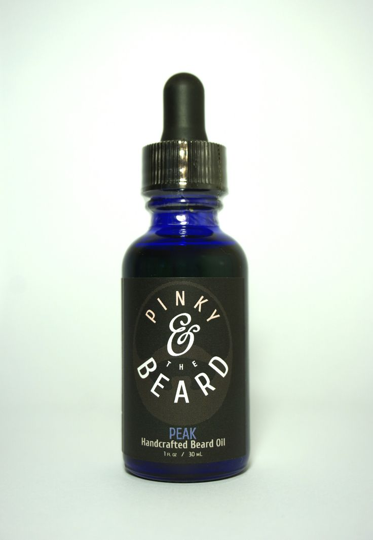Pinky & the Beard PEAK Naturally Scented Handcrafted Beard Oil, 1oz bottle