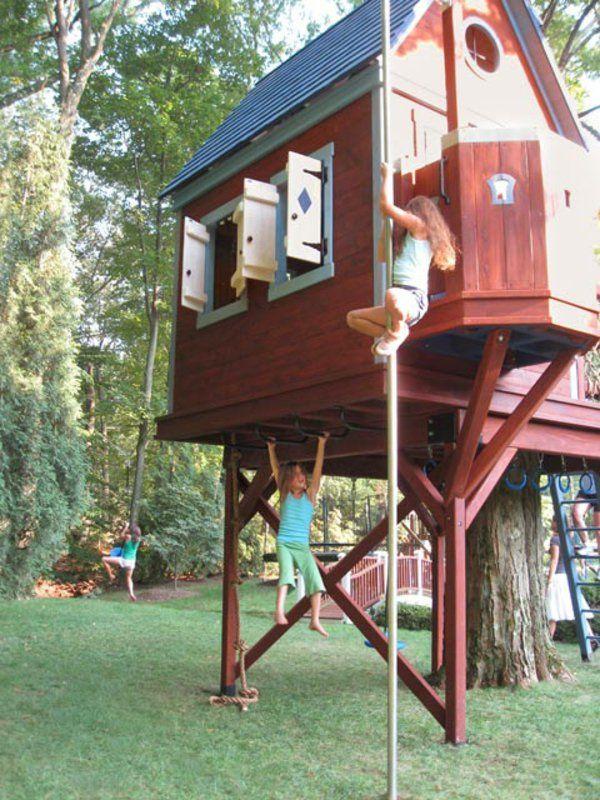 Trouvez unique et cool idée- une cabane dans les arbres pour votre enfant et pour faire le jardin plus adorable et amusant; Amusants designs pour la maison