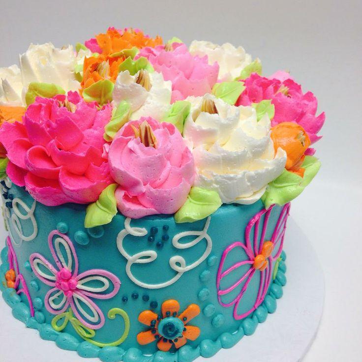 colorful cake - white flower cake shoppe