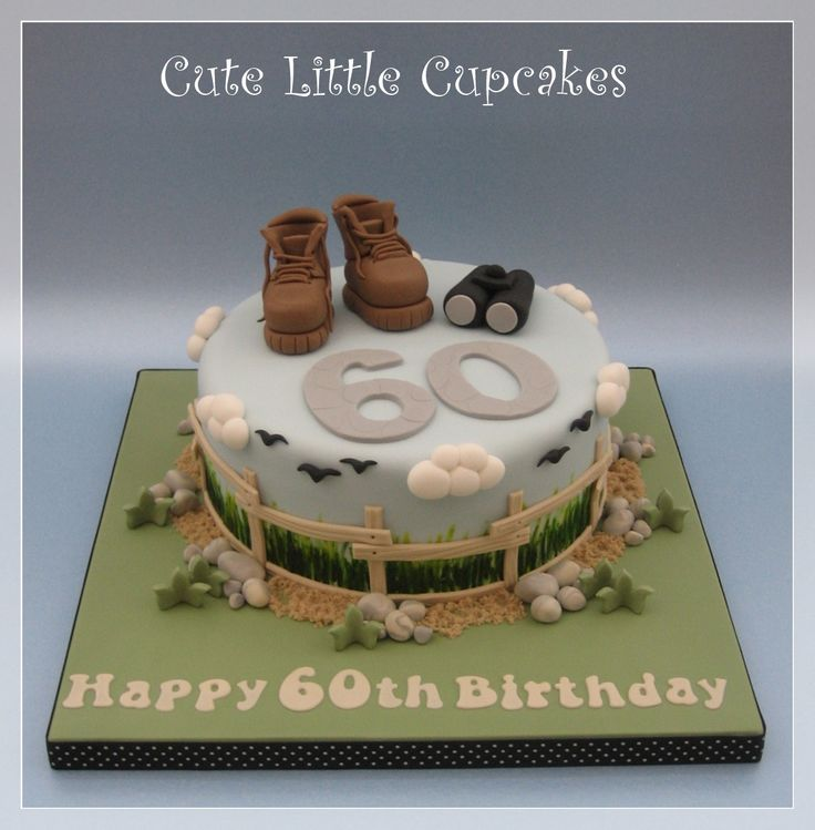 60th Birthday cake for a keen walker & birdwatcher x
