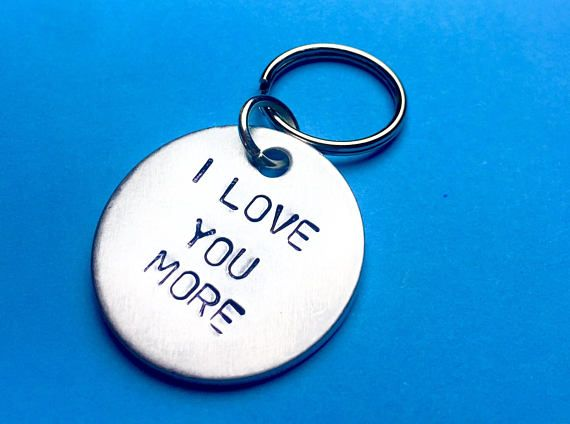 I Love you more, Boyfriend gift, Personalised gift, Boyfriend/girlfriend, Newlywed Anniversary gift for him, Boyfriend keychain,Gift for men
