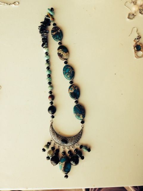 Love is... beautiful jasper beads, agate, snowflake obsidian and blue howlite....