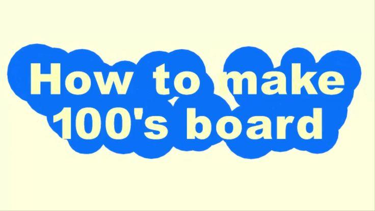 How to make a felt 100's board/ diy montessori materials