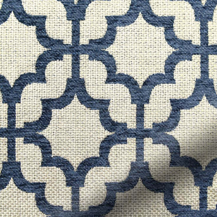 Nothing can feel quite as Mediterranean as the pattern, colours and textures of the Lattice navy Blue roman blind, which is why we love it so much. br br The deep blue tone and a weave that looks ...