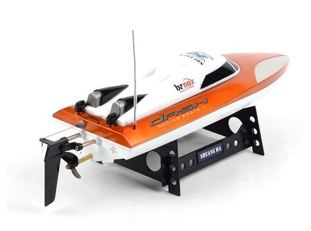 Free shipping 20km/h high speed 46cm Large-scale rc boats 7010 2.4G 4CH remote control boat speedboat sailing toys