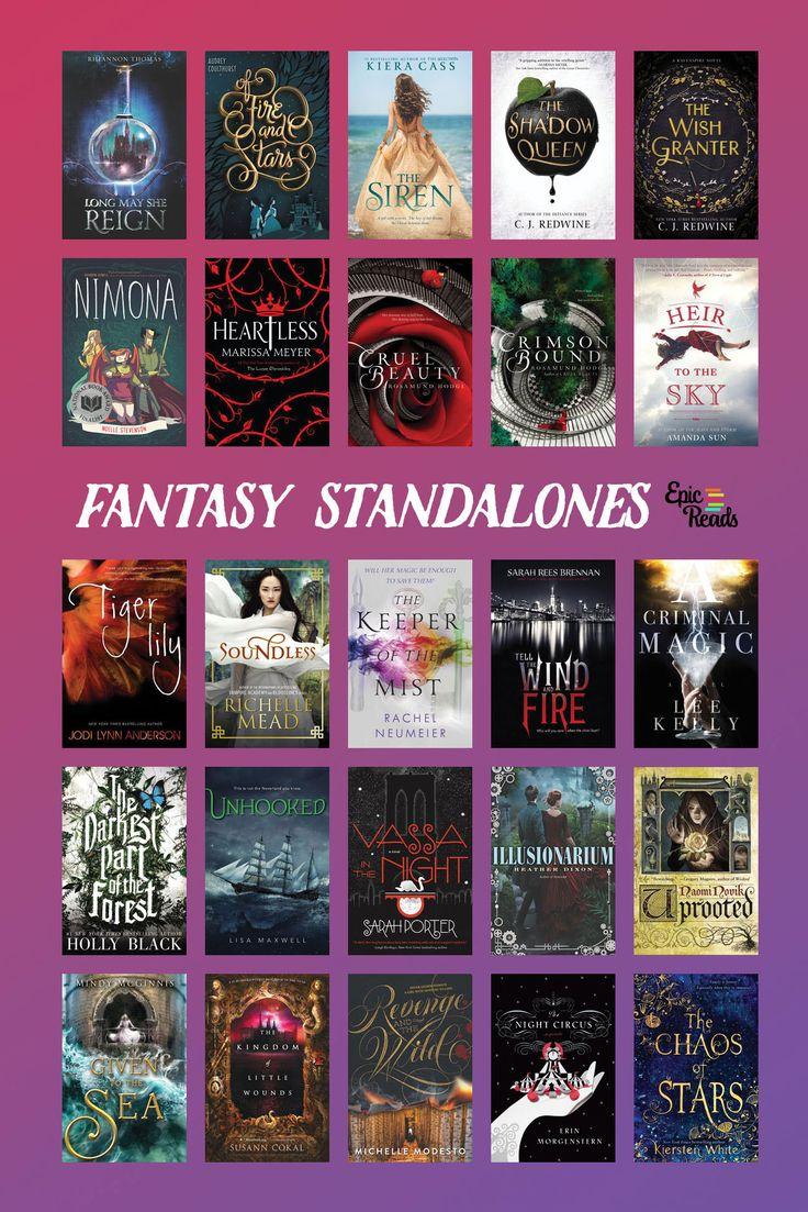 25 épiques YA Fantasy Standalones pour l'engagement – Phobe   – Visual Reading Lists