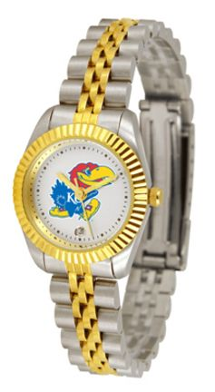 Kansas Jayhawks Ladies Executive Watch by Suntime: A timepiece as classic as the game itself. Our… #Sport #Football #Rugby #IceHockey