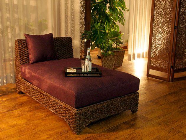 ベッド?ソファ?ウォーターヒヤシンスのアジアン系ベッドソファ