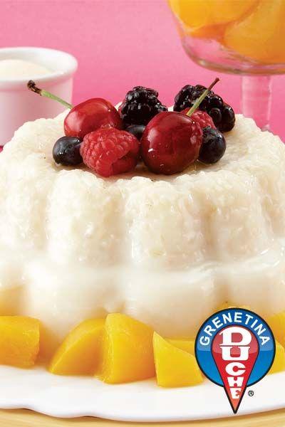 Gelatina de Arroz con leche (rice with milk jello)