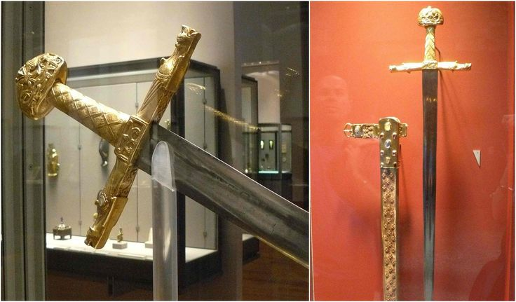 Joyeuse is the name tradition attributed to Charlemagne's personal sword.Some legends claim Joyeuse was forged using shards of the holyLance of Longinus,