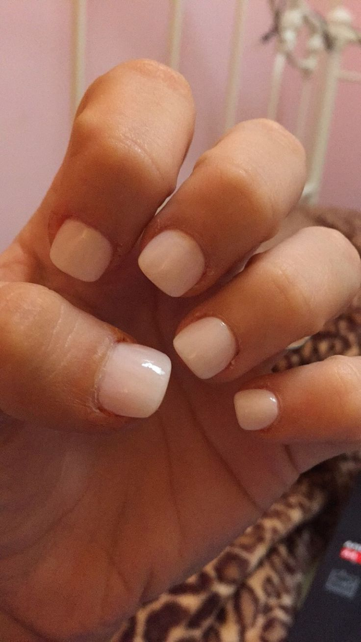Short Acrylic Nails With The Color Romantique