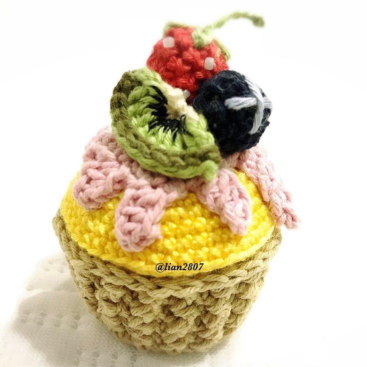 Crocheted cupcake