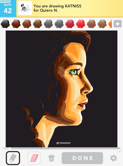 The Hunger Games in Draw Something- I bet you SOMEBODY got mad waiting to see what it was ;)