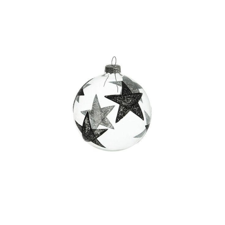 Kugel Sterne Glas klar ca D:8 cm