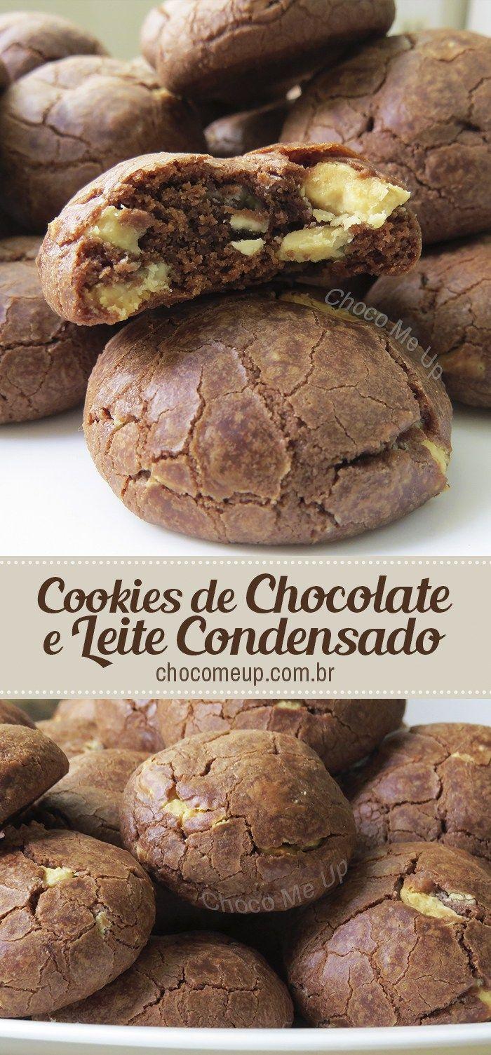 Receita de cookies de chocolate e leite condensado