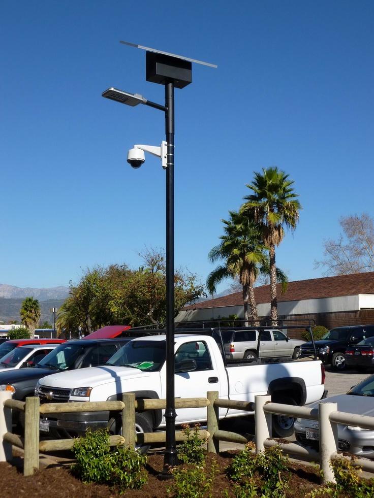 Solar LED light for a parking lot in Tarzana, CA