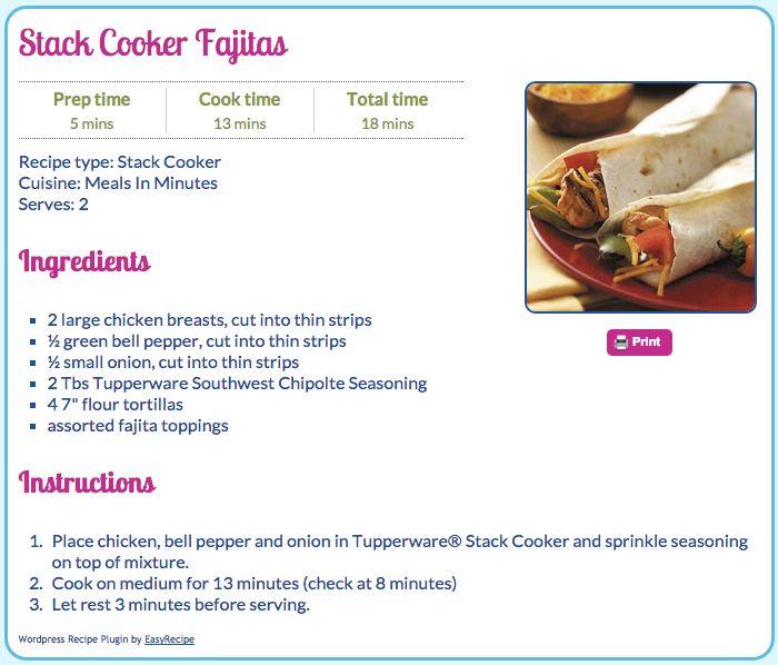 Stack Cooker Fajitas